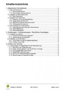 Datenschutz-Projekt Bericht_Inhaltsverzeichnis