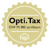 Opti.Tax wurde von Wirtschaftsprüfern nach IDW PS 880 zertifiziert. Für die sichere Erstellung der E-Bilanz