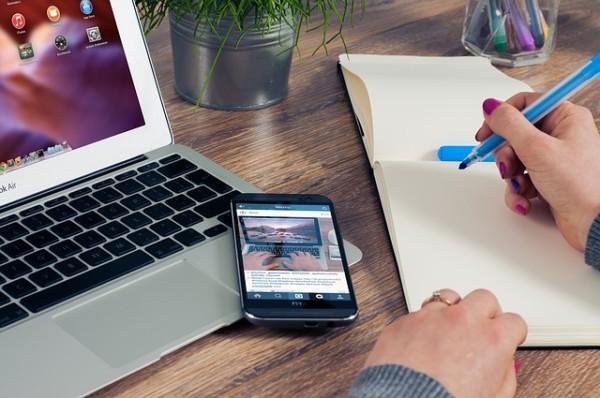 Office Laptop Smarthphone