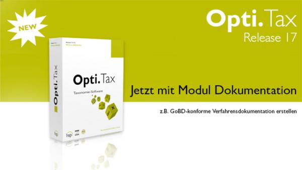 Opti.Tax Release 17 Jetzt mit Modul Dokumentation