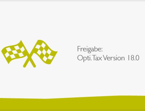 Freigabe: Opti.Tax 18 – Neue Taxonomie-Software Version steht bereit