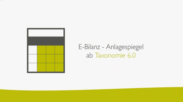 E-Bilanz Anlagespiegel-Taxonomie 6.0