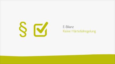 E-Bilanz: Keine Härtefallregelung-Banner