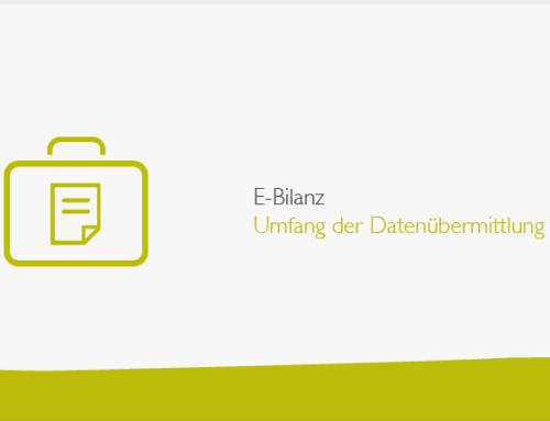 E-Bilanz: Umfang der Datenübermittlung