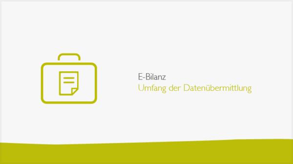 E-Bilanz: Umfang der Datenübermittlung-Banner