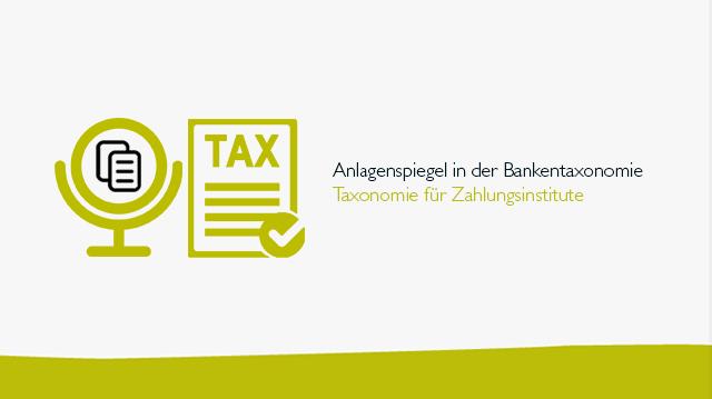 Anlagenspiegelin der Bankentaxonomie und der Taxonomie für Zahlungsinstitute