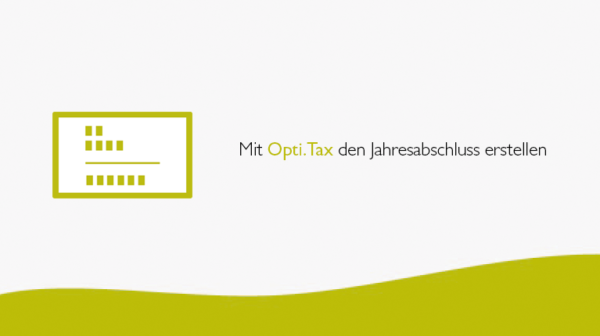 Mit Opti.Tax den Jahresabschluss erstellen