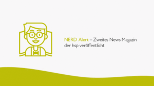 NERD Alert – Zweites News Magazin der hsp veröffentlicht