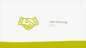 OEM-Partnertag 2018 Banner